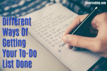 Different Ways Of Getting Your To-Do List Done
