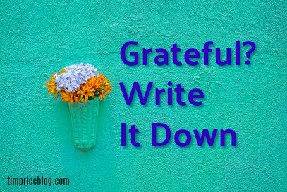 Grateful? Write It Down.