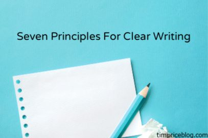 Seven Principles For Clear Writing