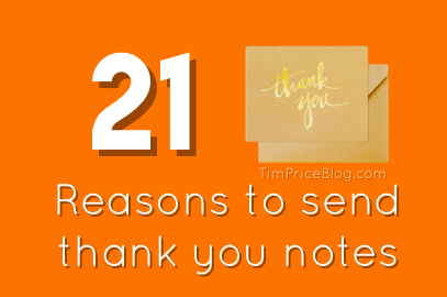 21 Reasons To Send Thank You Notes
