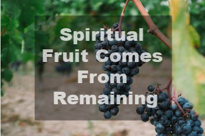 Spiritual Fruit Comes From Remaining