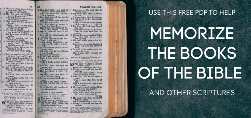 Memorize the Books Of The Bible – Free PDF.