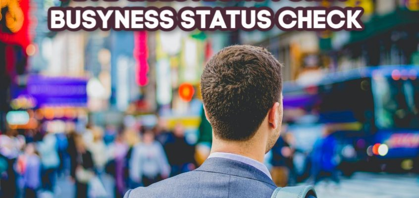 Five Questions For A Busyness Status Check