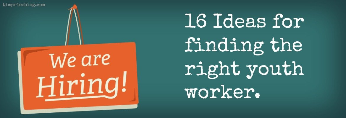 finding the right youth worker