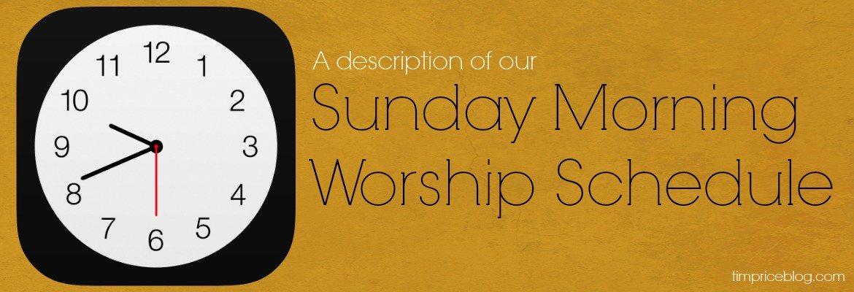 sunday morning worship schedule